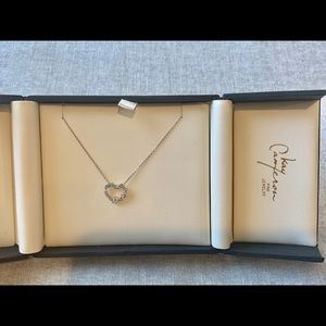 Jewelry - 14K white gold and diamond heart necklace